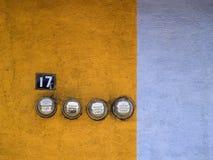 электрические метры домочадца Стоковая Фотография