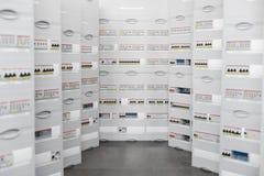 Электрические панели для больших домов и квартир Стоковое Фото