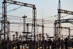 Электрические подстанции Altaya Стоковое Изображение