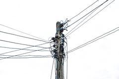 электрические полюсы стоковое изображение