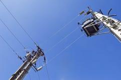 электрические полюсы Стоковое фото RF