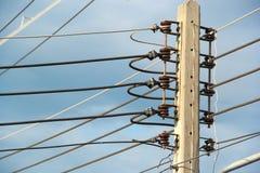 Электрические поляки высокого напряжения стоковое фото rf