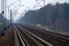 электрические следы дороги рельса Стоковое Фото