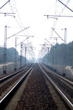 электрические следы дороги рельса Стоковое Изображение