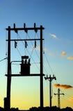 электрические столбы стоковое изображение
