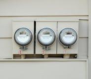 электрические счетчики Стоковое Фото