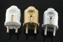 электрические штепсельные вилки Стоковые Изображения
