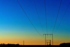 Электрические powerlines Стоковая Фотография RF