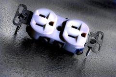 электрический выход Стоковое Фото