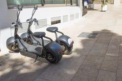 Электрический городской тип скутер кораблей подвижности в аренду стоковое фото rf