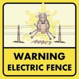 Электрический знак загородки иллюстрация штока