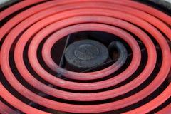 электрический накаляя горячий ряд печи Стоковые Фотографии RF
