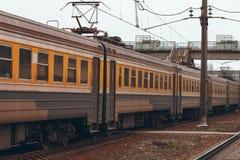 электрический пассажирский поезд Стоковые Фотографии RF