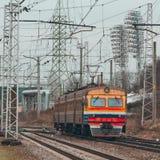 электрический пассажирский поезд Стоковое фото RF