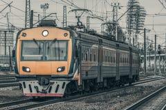 электрический пассажирский поезд Стоковые Фото