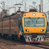 электрический пассажирский поезд Стоковое Изображение RF