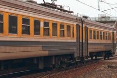 электрический пассажирский поезд Стоковое Фото