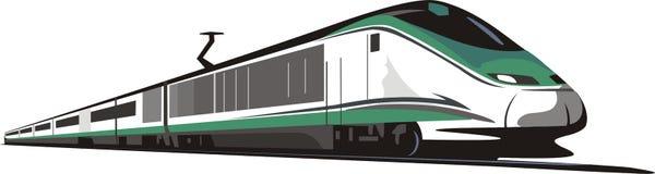 электрический поезд иллюстрация вектора