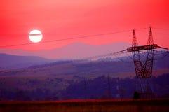электрический полюс Стоковая Фотография