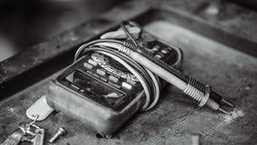 Электрический прибор индикатора цифрового вольтамперомметра стоковые изображения rf