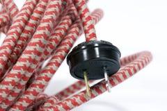 электрический провод сбора винограда штепсельной вилки Стоковое фото RF