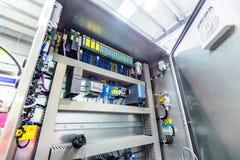 Электрический пульт управления, нержавеющая сталь стоковая фотография rf