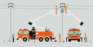 Электрический ремонт поляка Стоковое Фото