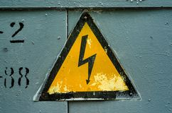 Электрический символ знака Стоковые Фото