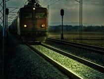 электрический старый поезд Стоковое Изображение