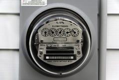 электрический счетчик Стоковая Фотография