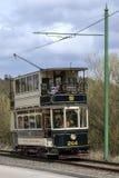 Электрический трамвай на Beamish под открытым небом музее Стоковая Фотография RF