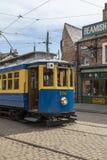Электрический трамвай - Beamish под открытым небом музей - Англия Стоковые Изображения RF