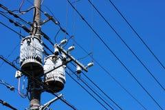 электрический трансформатор стоковая фотография