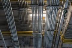 Электрический трубопровод металла стоковое изображение rf