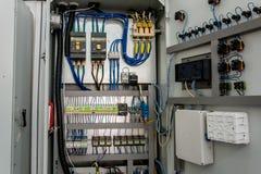 Электрический шкаф переключателя стоковое фото rf