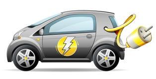 электрическое автомобиля компактное иллюстрация вектора
