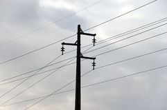 электрическое высокое напряжение тока опоры Стоковое Изображение RF