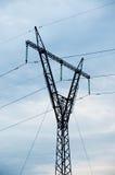 электрическое высокое напряжение тока столба Стоковое Изображение RF