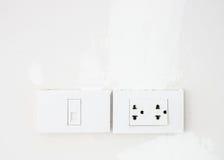 Электрическое гнездо переключателя и телефона Стоковое Фото
