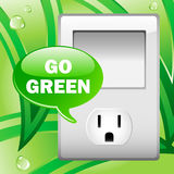 электрическо идет зеленый выход иллюстрация штока