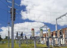 электричество города малое стоковое изображение