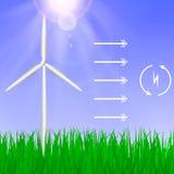 электричество производя ветер турбин иллюстрация штока