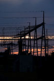 электричество рассвета Стоковое фото RF