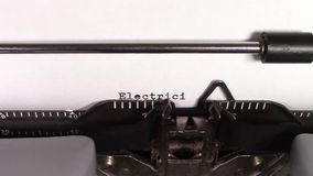 """Электричество 101' слов """"печатаемый на машинке сток-видео"""