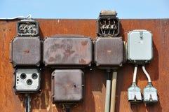 электричество шкафа стоковое изображение rf