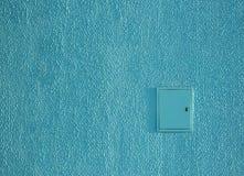 Электричество экрана внешней картины замазки гипсолита стены текстуры предпосылки колючее ровное голубое Стоковые Фотографии RF