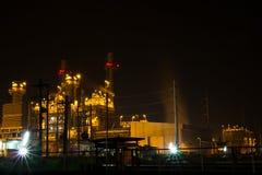 Электричество Bangpakong на ноче Стоковая Фотография
