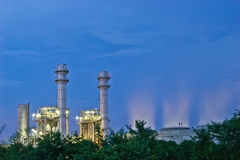 Электричество nakhon Amata на ноче Стоковая Фотография RF