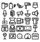 Электроника и линия значки приборов смелая которая может легко доработанный или редактировать иллюстрация вектора