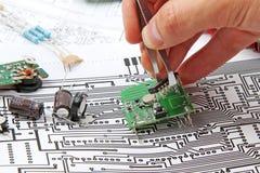 электроника компонентов Стоковые Изображения RF